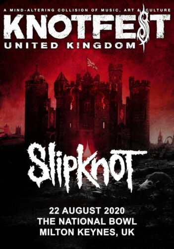 Slipknot Wir Sind Nicht Ihre Kind World Tour 2019//2020 Fotodruck Poster Live