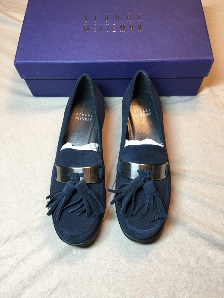 Stuart Weitzman Moc Moc Ocean Velour Velour Velour shoes Size 5M 86293c