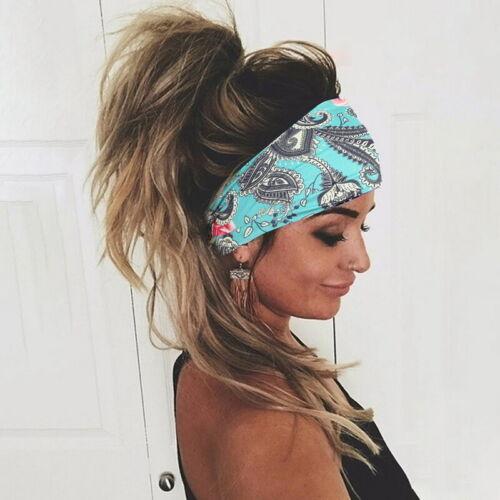 Women/'s Elastic Wide Headband Sports Yoga Gym Running Stretchy Hair Band Ladies.