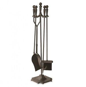 Fireplace Tools Set 5 Piece Wrought Iron Poker Brush