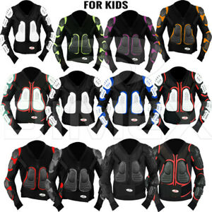 Kids-Child-Motorcycle-Protector-Guard-Jacket-Motorbike-Spine-Body-Armour