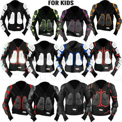 Kids//Child Motocross Motorcycle Motorbike Off-Road Protective Gear Breathable Safety Body Armour 4 Year Hi Viz