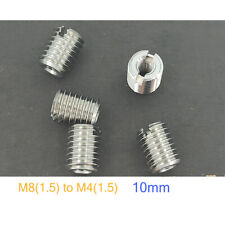5x Thread Adapters Stainless Steel M12 Male To M8 Female Nut Reducer Insert