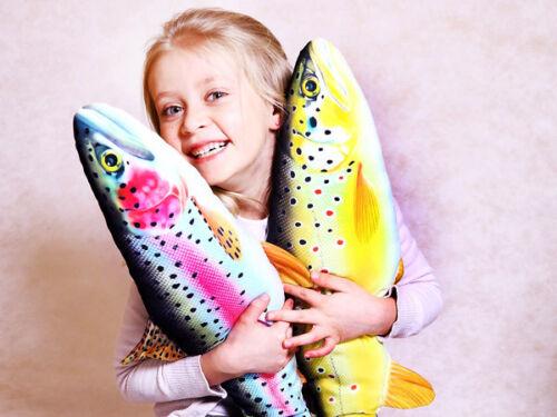 Gaby almohada irse pescado trucha arco iris peluche pescado de peluche regalo