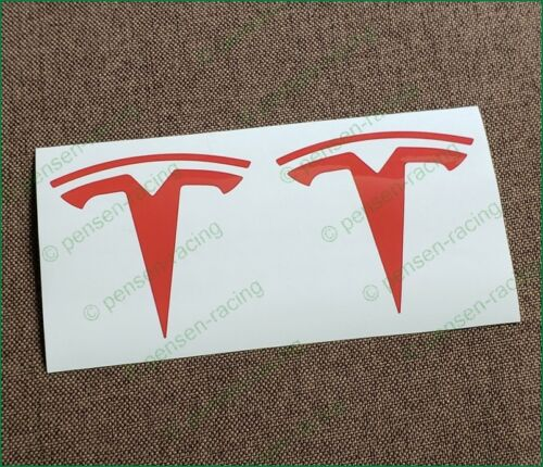 Tesla Model X Front Logo Emblem Inlay High Cast Vinyl Decal Sticker Any Color