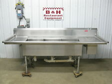 96 Stainless Steel 3 Bowl 18 X 20 Compartment Sink With 2 Drain Boards 8