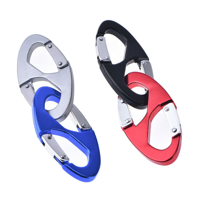 S type backpack clasps climbing carabiners edc keychain camping bottle hook LY