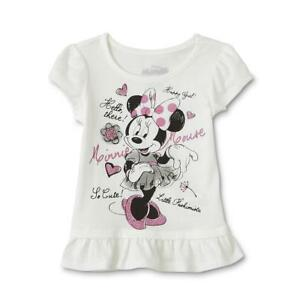 db6966d5f8bff Image is loading Minnie-Mouse-short-sleeve-Ruffle-T-Shirt-toddler-