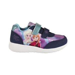 Details zu Sportschuhe Kinder Freizeit Schuhe Disney Eiskönigin Elsa & Anna lila Gr. 28