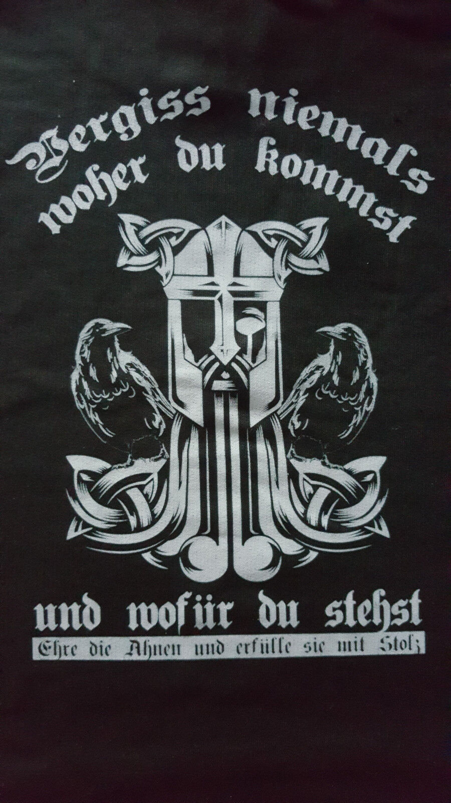 Kapuzzenpulli Hoodi Vikings / Walhalla, schwarz, Gr. 3XL NEU