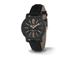 f8e36d61e38 Bvlgari BVLGARI Carbon Gold 40mm Black Case Black Leather Strap -  (BBP40BCGLD N)