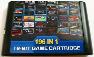 196 In 1 Multi Game Card Cartridge For 16 Bit Sega Genesis MD With Fast Shipping