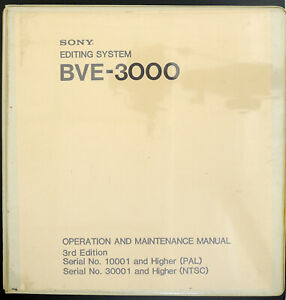 Sony-BVE-3000-3rd-Edition-Original-Editing-Systeme-Manuel-de-Service-Diagram