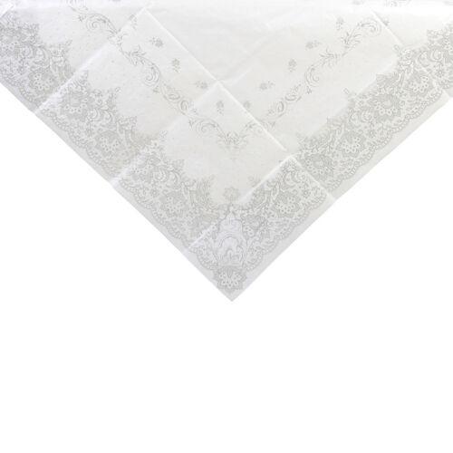 Plata y Blanco de la cubierta de tabla-Navidad//Fiesta//Mesa De Boda
