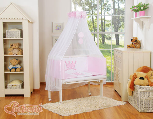 MATTRESS+NURSERY BEDDIG BABY BED SIDE CRIB NEXT TO MUM NEXT 2 BED COT CANOPY