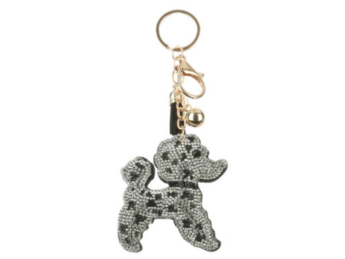 Collection 2 Tassel Bling Faux Suede Stuffed Pillow Key Chain Handbag Charm