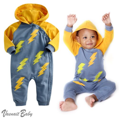 "NWT Vaenait Baby 6-24M Infant Hooded One-pieces Romper Jumpsuit/""Hoodie Thunder/"""