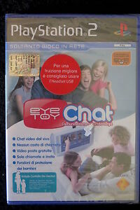 PS2-EYETOY-CHAT-Nuovo-sigillato-ITA-Chat-video-dal-vivo-gratuita