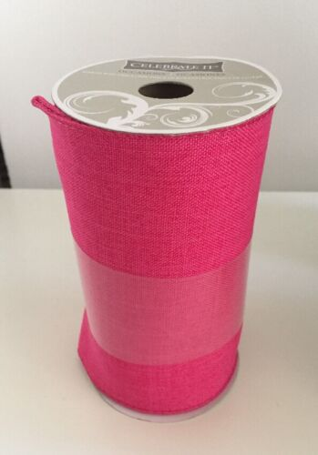 """NEW Celebrate It Ribbon Wired Bow-tique Bow Wedding 5 1//2/"""" x 18 ft  HOT PINK"""