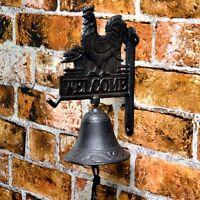 Cast Iron Wall Mounted Bell Antique Finish Door Bell Ebay