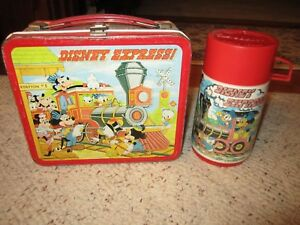1970's Disney Express Metal Lunchbox W/Thermos!!!
