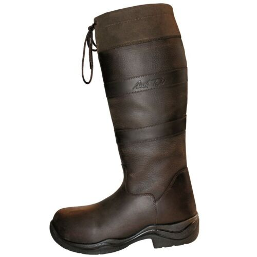 Mark Todd Childs Waterproof /& Breathable Country Boots full grain /& nubuck leath
