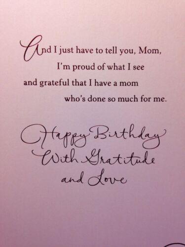 6   MOTHER BIRTHDAY XL CARD MOM Happy Birthday hALLMARK Choice of 15 NEW W//ENV