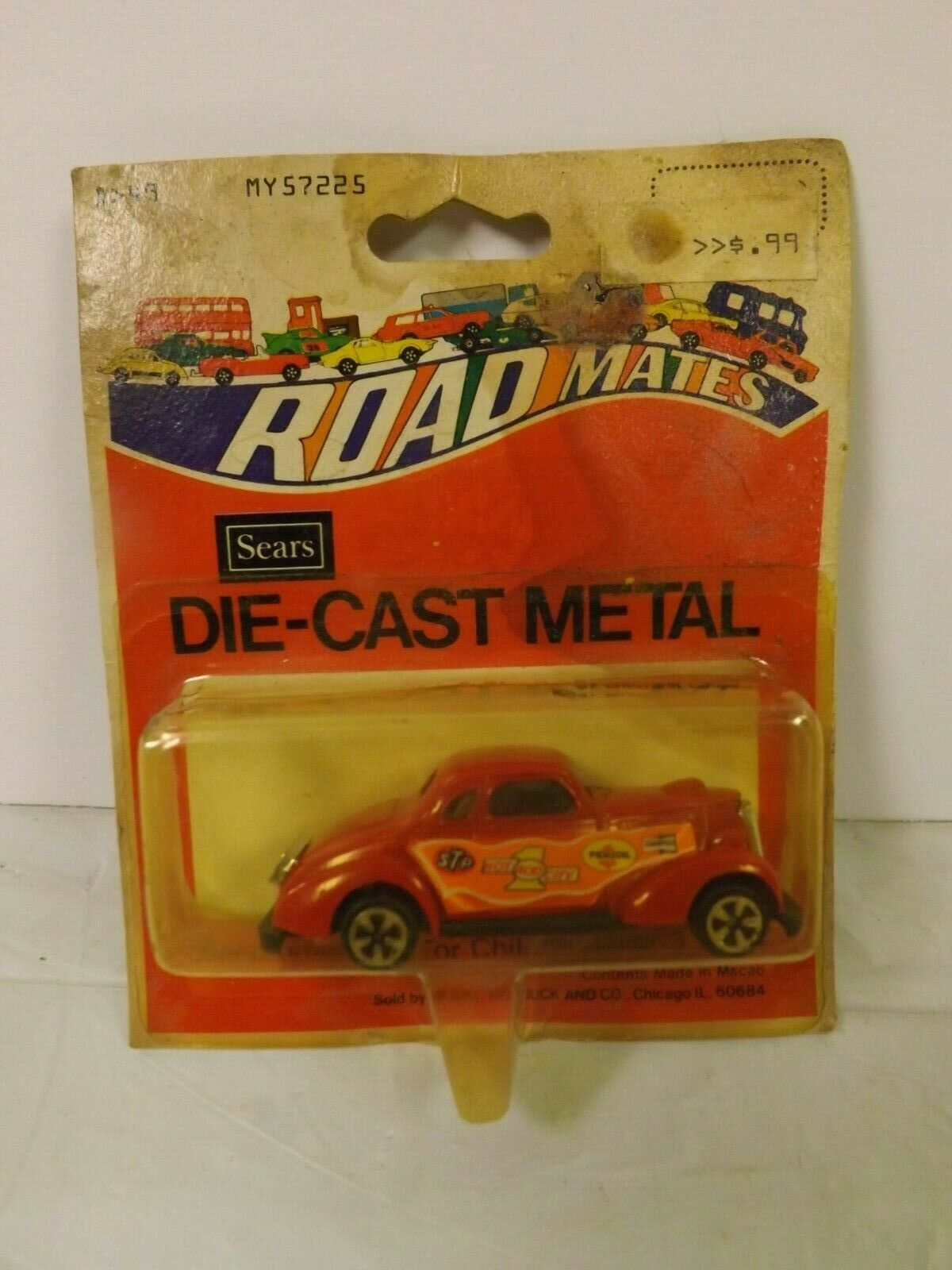 RARE Vintage Sears Road Mates 1 64 Hot Wheels Die-Cast '37 Chevy Coupe MOC