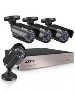 8 Security Camaras de Seguridad Sistema de Vigilancia profesional CON DISCO DURO