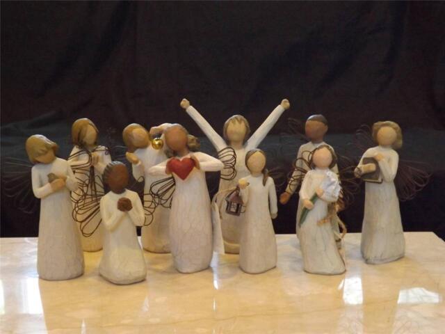 Willow Tree Angels (10) Grace Spirit Wonder Hope Friendship Courage Susan Lordi
