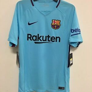 430ffc597 Image is loading Nike-FC-Barcelona-Official-2017-2018-Away-Soccer-