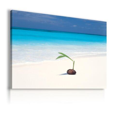 SUMMER BEACH OCEAN SEA View Canvas Wall Art Picture Large AB22 X MATAGA