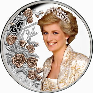 Tokelau 2021 Diana of Wales The Peoples Princess $5 1 Oz Pure Silver Color Proof