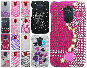wholesale dealer 4ce3b 3a528 Details about For Motorola Droid Turbo Crystal Diamond BLING Protector Hard  Case Phone Cover