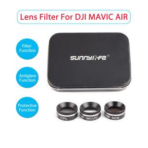 éNergique Filtre D'objectif Caméra Multifonction Sunnylife Mcuv+cpl+nd8 Pour Dji Air Mavic