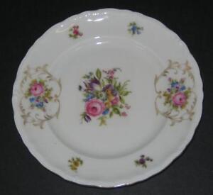 Vtg-EPIAG-BREAD-BUTTER-PLATE-S-floral-w-gold-Deutschland-Czechoslovakia-Bohemia