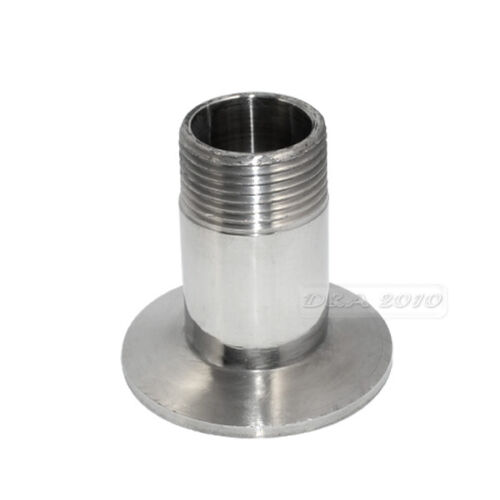 """3//4/"""" DN20 Sanitary Male Threaded Pipe Fitting to TRI CLAMP OD50.5mm Ferrule BSPT"""