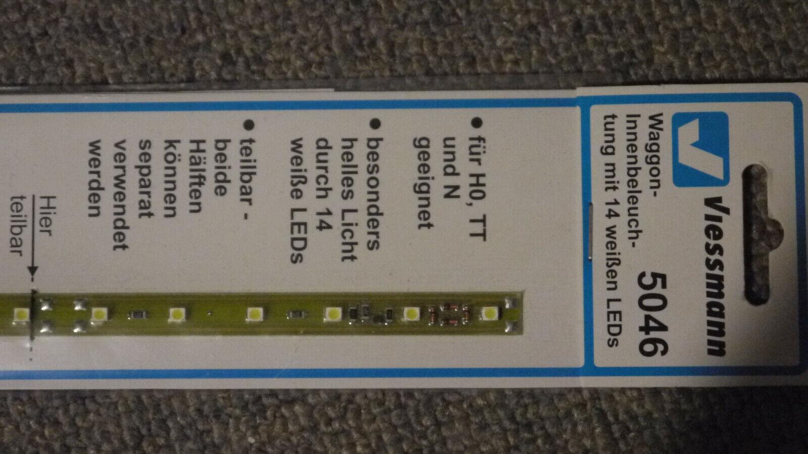 Viessmann HO 5046 Waggon-Innenbeleuchtung 11 LEDs weiß Neuware