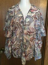 Victoria Secret Paisley Cotton/Silk Swim Cover Up Size L Large NWT!!! $89