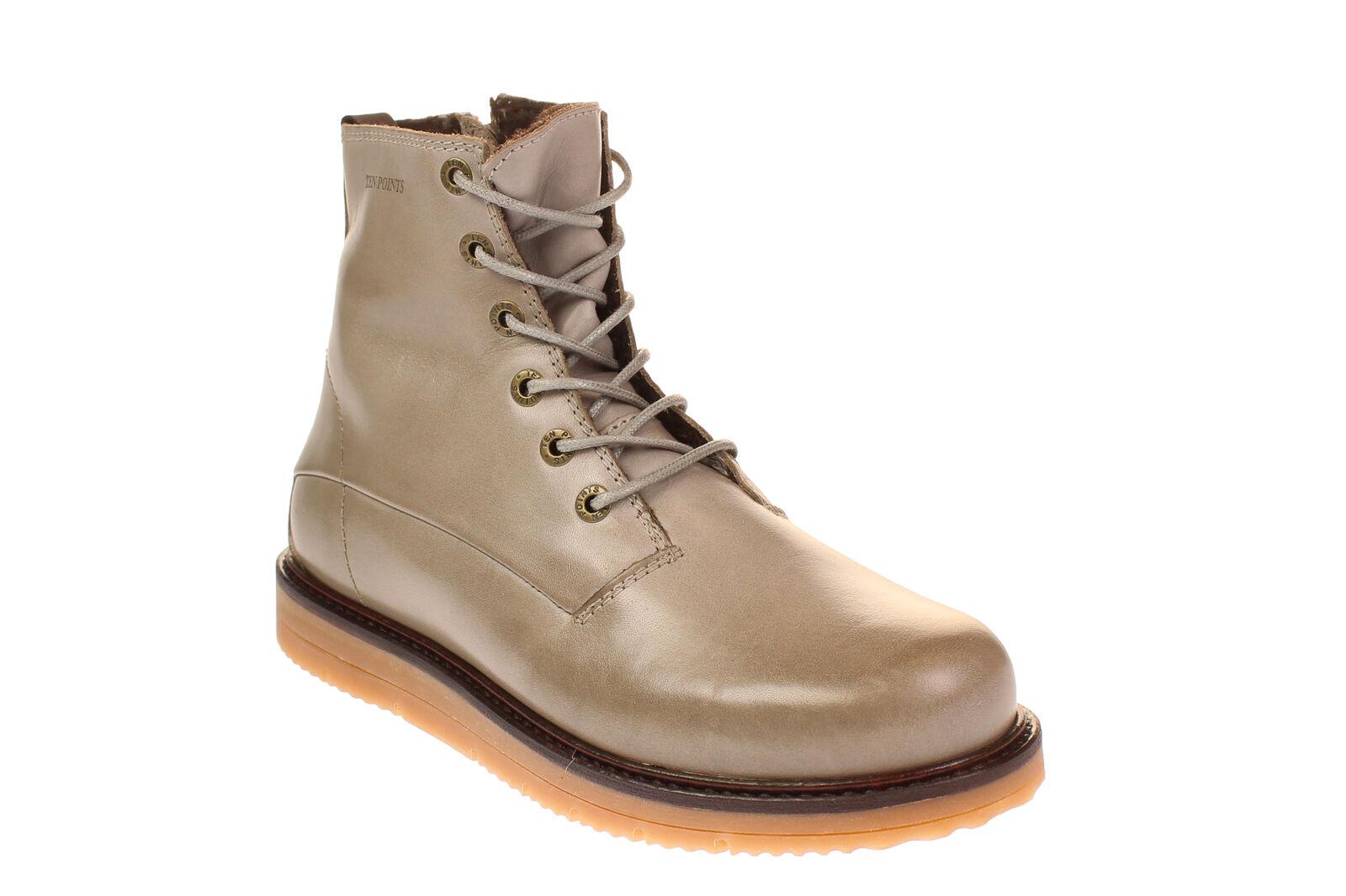 Ten points 386006 Carina-señora zapatos botín - - - 356-Taupe  ahorra 50% -75% de descuento