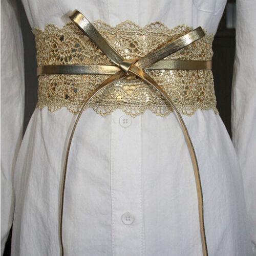 Fashion Waist Belts Women Lace Wide Belt Bowknot Weaving Belt Boho Waist B gv/_vi