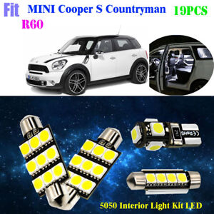 19pcs 5050 Hid White Interior Light Kit Led Fit For R60 Mini Cooper