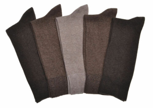 5 Pairs of MEN/'S BROWN Cotton Socks