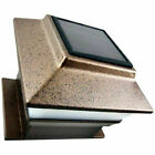Iglow 8 Pack Copper Outdoor Garden 4 x 4 Solar LED Post Deck Cap Square Fence Light