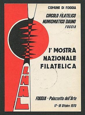 Suche Nach FlüGen Italien Mostra Filatelica Foggia Cartolina Ausstellung Sonderkarte C9452