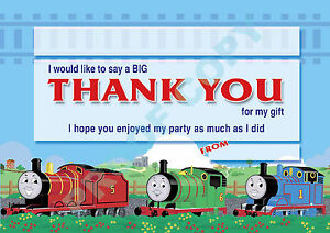 Thomas The Tank Engine Pack Of 10 Thank You Cards Kids