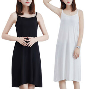 KQ-Plus-Size-Summer-Women-Solid-Color-Loose-Sleeveless-Camisole-Underdress-Film
