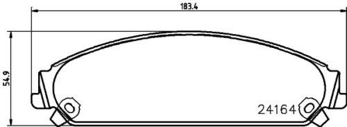5 YEAR WARRANTY GENUINE Mintex Front Brake Pad Set MDB2696 BRAND NEW