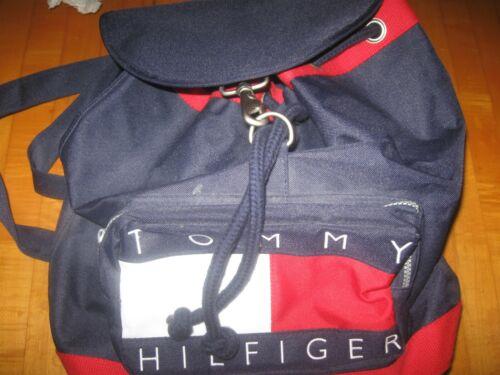 Vintage Tommy Hilfiger Flag Spellout Logo Backpack