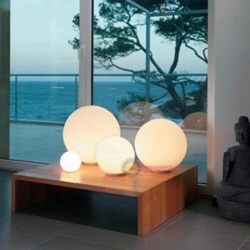 Hot Modern  Ball Round Glass  LED Floor Table Desk Lighting Light Lamp White